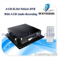 Sell 4 CH H.264 HDD mobile vehicle DVR with USB mouse control mode