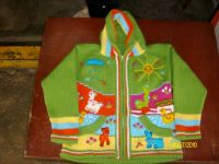 CARDIGANS FOR GIRLS WITH DECORATIVE APPLICATIONS