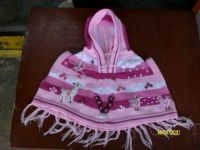 """""""PONCHO"""" FOR GIRLS WITH DECORATIVE APPLICATIONS"""