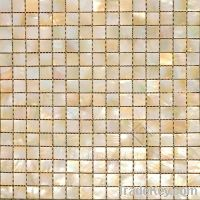 Sell Gold/Yellow mother of pearl shell mosaic