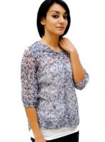 Sell Sheer Floral Print Blouse