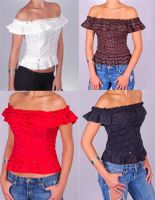 Sell Eyelet Off the Shoulder Tops