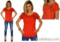 Sell The Junior Sized Orange Sparkly Bow T-shirt