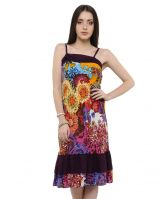 SELL Yellow Floral Print Layered Sun Dress-VGS-351YE