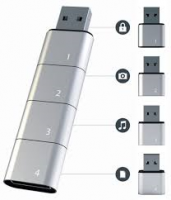 Stackable USB Flash Drive Allows Virtually Unlimited Memory
