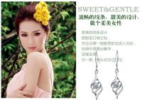 Sell fashion silver earrings, woman style