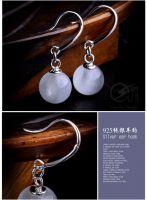 Sell opal 925 silver earrings