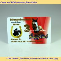 Plastic Club Member Access Card with Credit Card Size