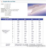 Offer to Sell Tungsten Bar and Plate