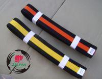 Solid Color Belts with Black Stripe