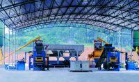 concrete block machine semi-automatic production line