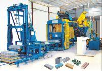 concrete block making machine simple production line