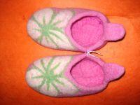 felt slipper from nepal