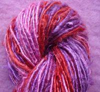 recycled sari silk yarn