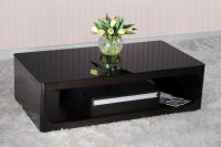 Sell Wood veneer with Tempered glass top Coffee Table with drawers