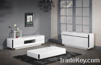 Sell white high glossy/wood veneer coffee table, cocktail table, cabinet