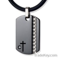 Sell jewelry titianium cross pendant necklaces