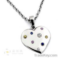 stainless steel jewelry , steel heart necklaces