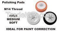 M14 14mm Thread Foam Polishing Compound Pads Mop Head SET Firm Medium Soft
