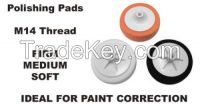 M14 14mm Thread Foam polishing compound pads with backup plate