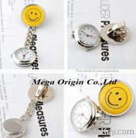 Smiley Nurse FOB Watch, smile face nurse fob watches