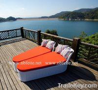Sell FT-3017 outdoor garden rattan furniture Sun Lounger
