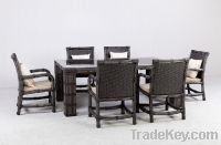 Sell dinner set rattan furniture FT2120