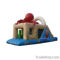 Sell Red octopus inflatable bounce slide