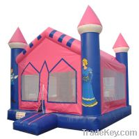 Sell pink princess inflatable castle