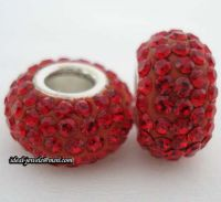 Sell pandora sterling silver zrcon stone beads