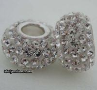 pandora sterling silver zrcon stone beads