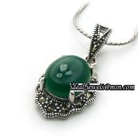 925 sterling silver agate pendants or charms