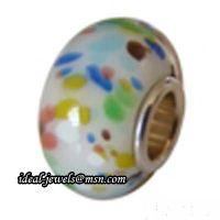 Wholesale Pandora Sterling Silver Murano Glass Beads IB-B 018