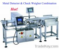 Sell metal detector and check weigher combination