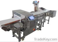 Sell metal detector and check weigher combination system