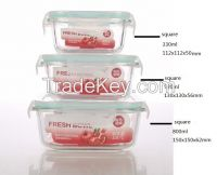 borosilicate glass food containers