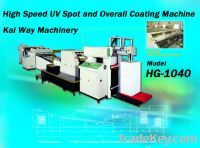 Sell High Speed UV Spot and Overall Coating Machine
