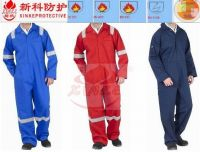 Sell 100% cotton flame retardant coverall for fire man