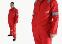 100% cotton flame retardant workwear with Pyrovatex
