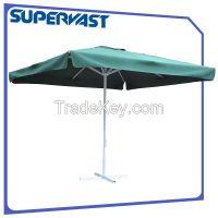 Double-pulley market umbrella