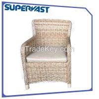 Low back wicker chair