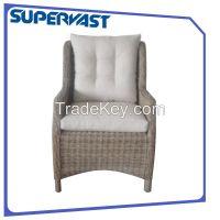 High back wicker chair
