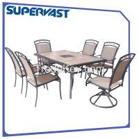 7pc steel dining set