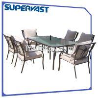 7pc metal outdoor furniture