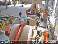 Sell gypsum board making machine with natural gas drying