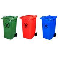 plastic garbage bin, garbage can, rubbish bin, rubbish can