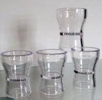 plastic jigger, jigger, shot glass, plastic shot glass