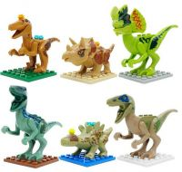 HOT SALE dinosaurs of Jurassic world blocks minifigure with 6 designes