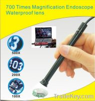 Sell new waterproof USB microscope 700x zoom  Endoscope 4 led 10mm len