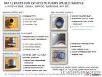 Sell spare parts for concrete pumps